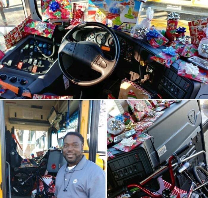 5. Когда водитель школьного автобуса спросил детей, что они хотят на Рождество, и исполнил желание каждого