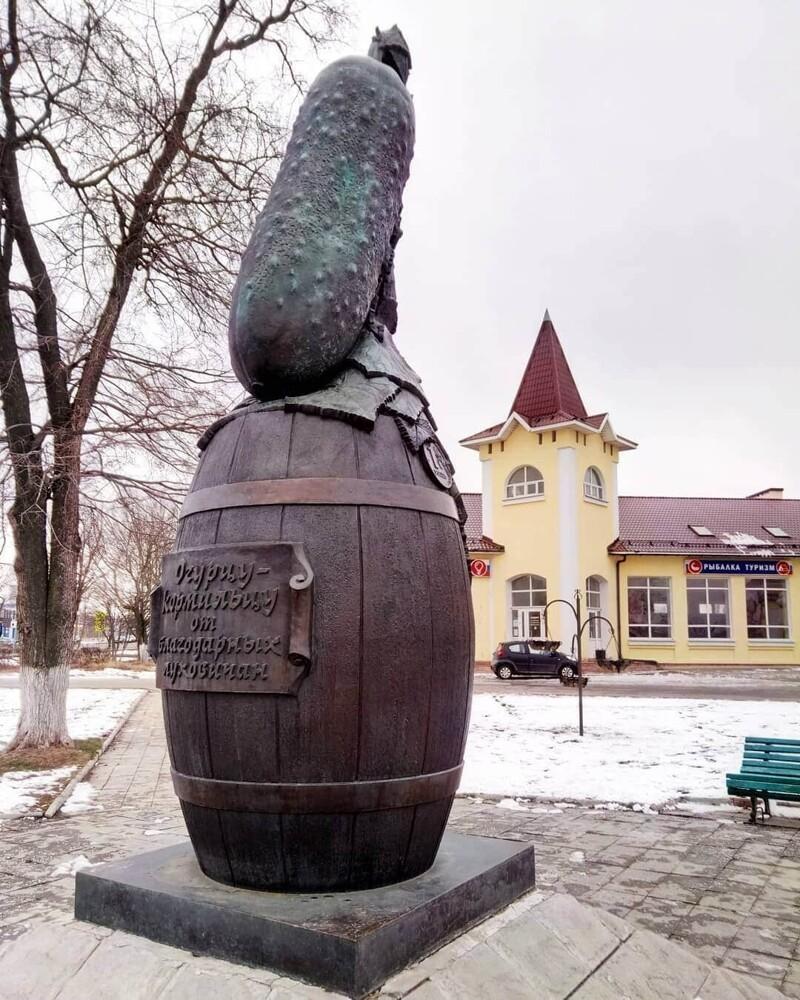 16. Памятник огурцу, Луховицы