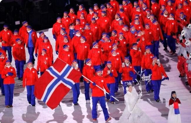 14. Норвегия держит рекорд по количеству медалей, выигранных на одиночных Олимпийских играх - 39 штук