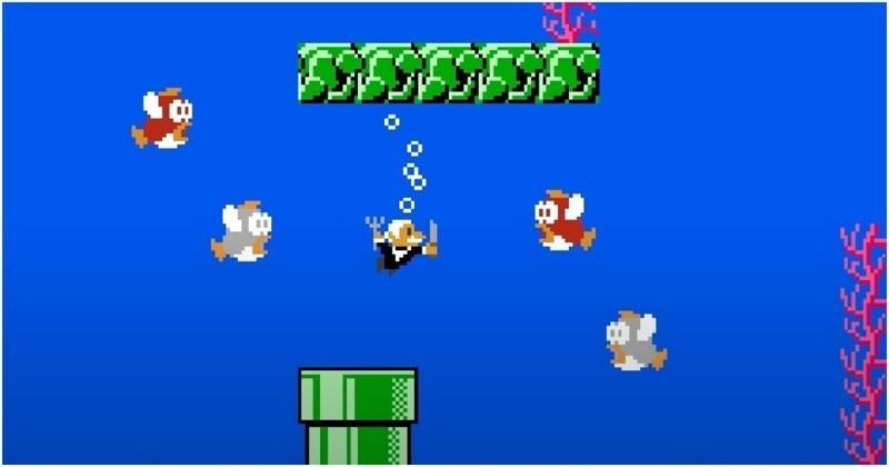 Леонид Якубович вмире игры Super Mario. Финал
