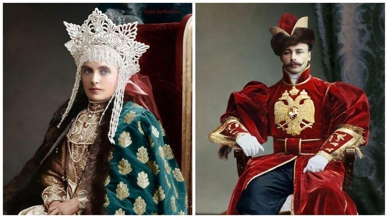 Костюмированный бал Романовых - фотографии 1903 года в цвете