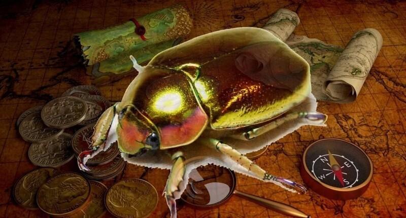 Какой смысл автор вложил вназвание рассказа «Золотой жук»?