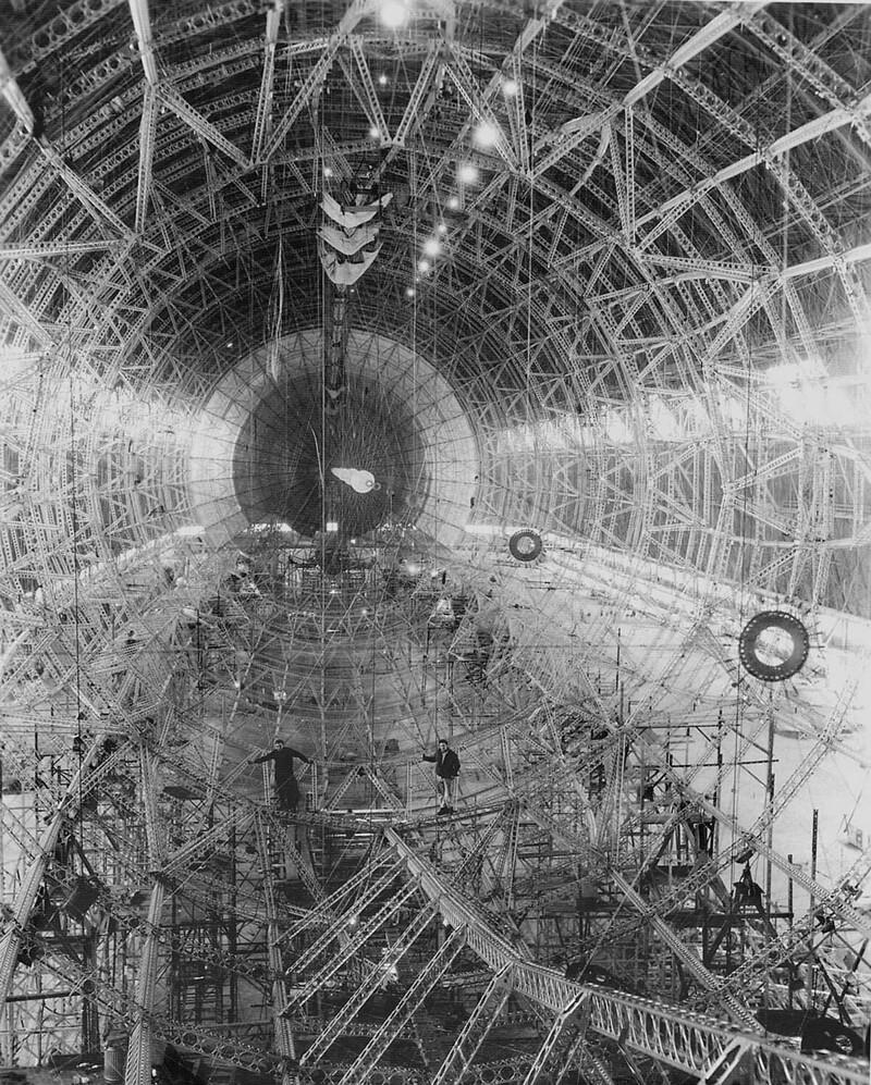 3. Строительство дирижабля «Акрон», конец 20-х годов, США