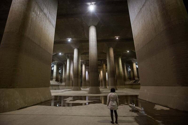 8. Внутри токийского противопаводкового коллектора