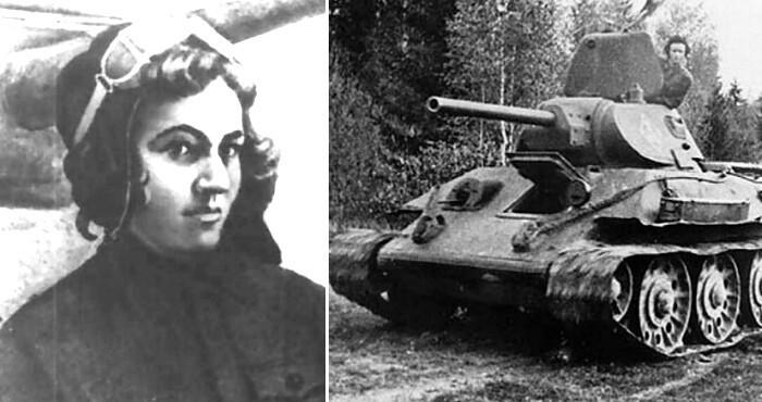 """В 1941 году Мария Октябрьская потеряла мужа - он был убит нацистами во время Второй мировой войны. Она продала все имущество и купила танк. Назвав его """"Боевой подругой"""", она отправилась убивать нацистов на Восточном фронте"""