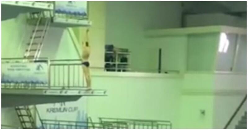 Юный спортсмен ударился головой овышку вовремя соревнований попрыжкам вводу