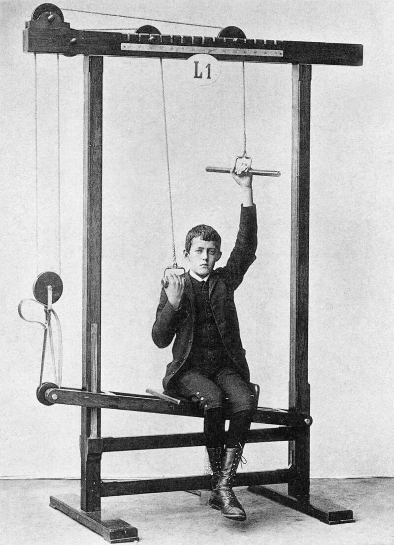 Воттакими были первые вмире спортивные тренажеры