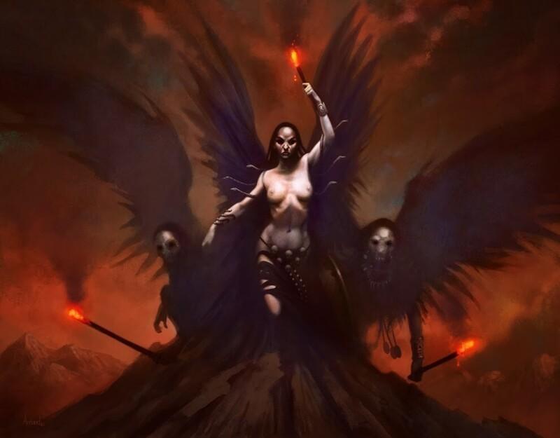 Мифические фурии. Сердитый женский образ изподземного мира