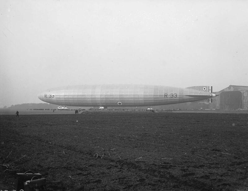 Каквыглядел британский дирижабль класса R33, фотографии 1919-1925 гг