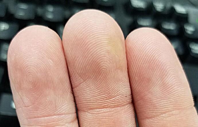 """22. Только у 5% людей отпечатки пальцев похожи на """"дугу"""" (справа). Чаще встречаются узоры в виде """"петли"""" (посередине) или """"спирали"""" (слева)."""