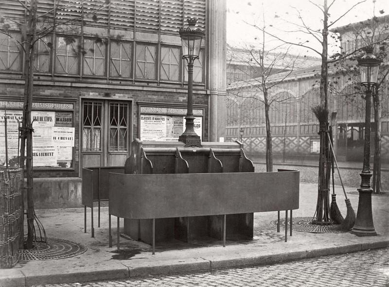 Старинные общественные писсуары Парижа, 1865-1875 гг