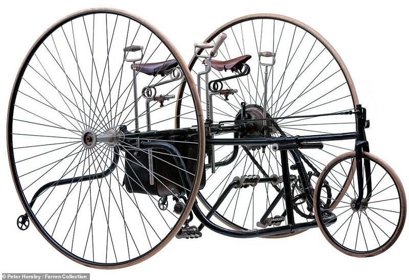 Ретро-транспорт: 15редких моделей велосипедов изпрошлого